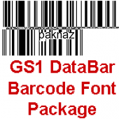 GS1 DataBar Barcode Font Package 13.09 screenshot