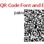 QR Code Font and Encoder Package 13.09 screenshot