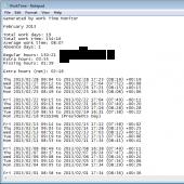Work Time Monitor 1.02 screenshot
