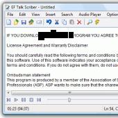 EF Talk Scriber 2.80 screenshot
