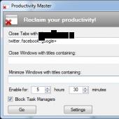 Productivity Master 1.0b2 screenshot