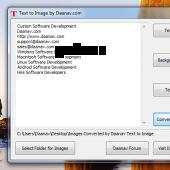 Text to Image Converter 1.0 screenshot
