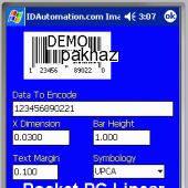 Pocket PC Linear Barcode DLL 5.0 screenshot