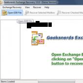 Geeksnerds Exchange Recovery 3.0.0 screenshot