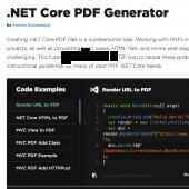 Create PDF in C# 2021.3.1 screenshot